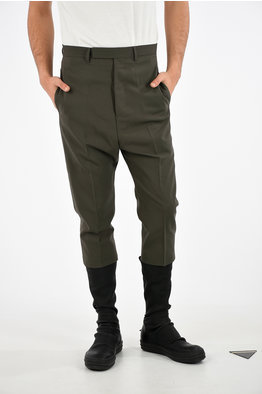 9129fcd4c4 -50%. Rick Owens Stretch Virgin Wool CROPPED ASTAIRES Pants. € 672.00 €  336.00. size: 46