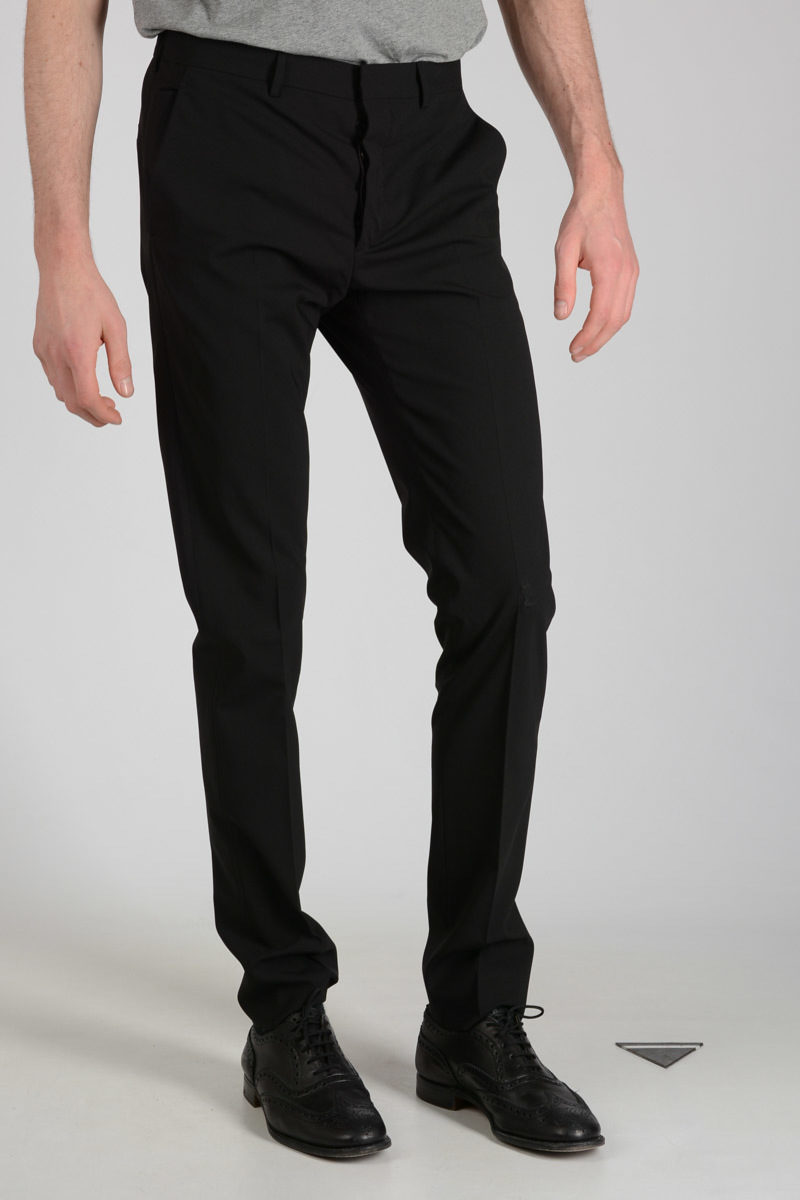 Stretch Virgin Wool Pants Spring/summer Prada Outlet Fashion Style Finishline Cheap Online Enjoy Sale Online Cheap Price Low Cost Sale Online 2uHEFbvVe