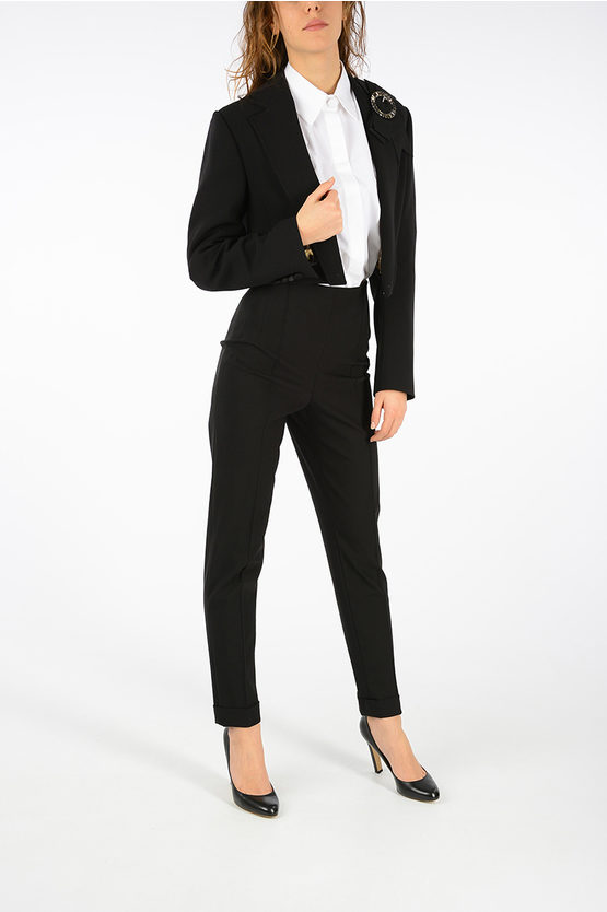 Stretch Virgin Wool Short Blazer