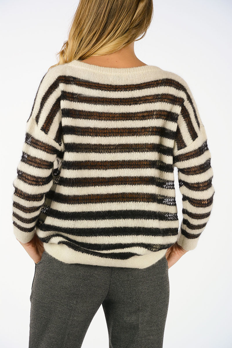 a7141fd1b2 Saint Laurent Striped Sweater women - Glamood Outlet