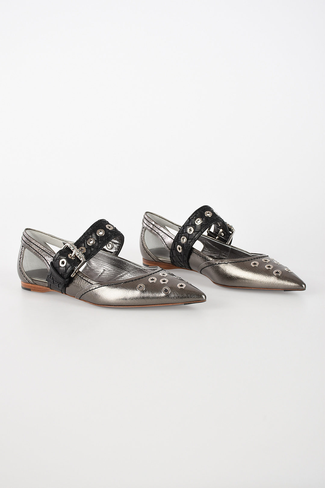 8e65c6c4 Studded Leather Ballet Flats