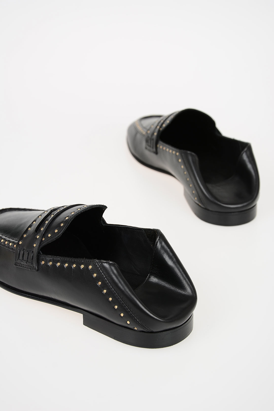 42d2268c9c Isabel Marant Studded Leather FEZZY Loafers women - Glamood Outlet