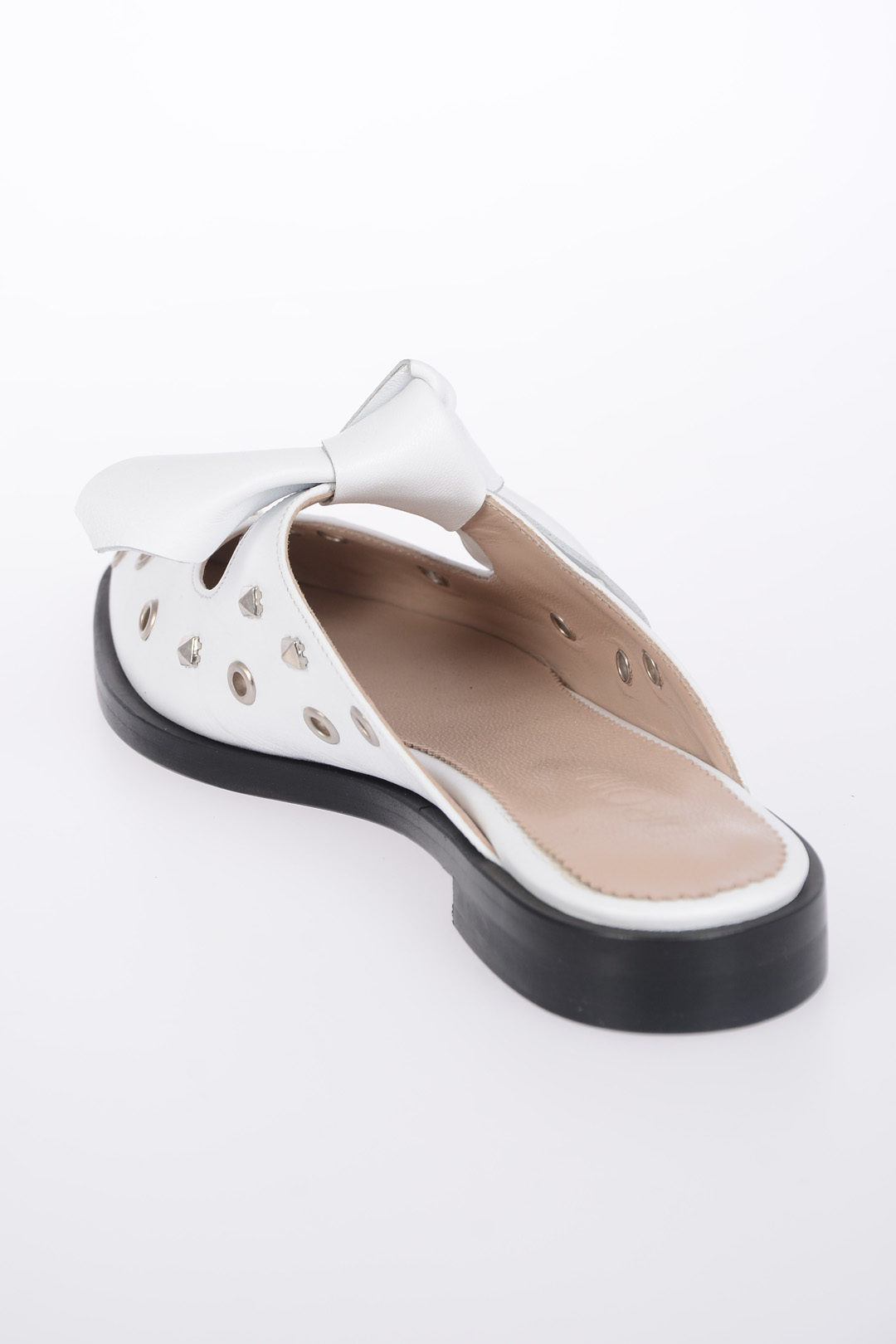 82d7a72f40e DROMe Studded Leather Mules women - Glamood Outlet