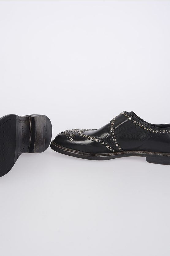Studded Leathers Monk Strap Shoes