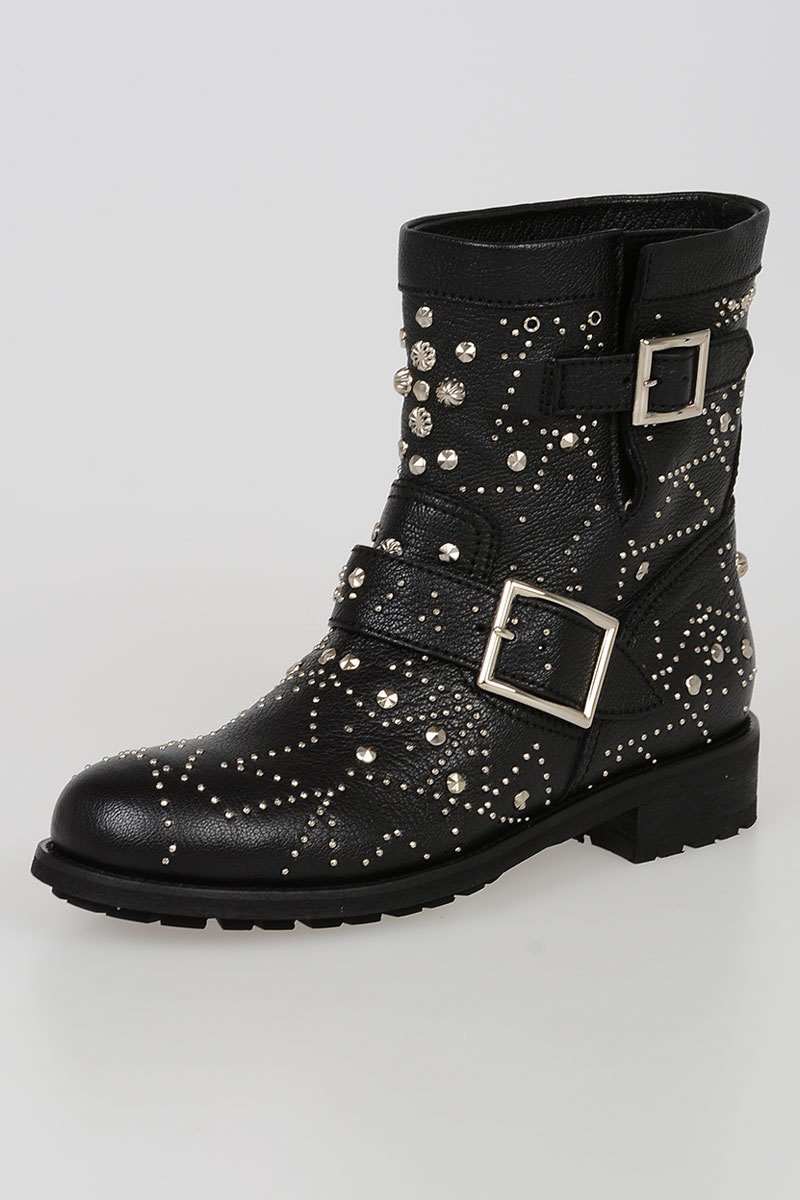 1ca792c3593d Jimmy Choo Studded YOUTH Biker Boots women - Glamood Outlet
