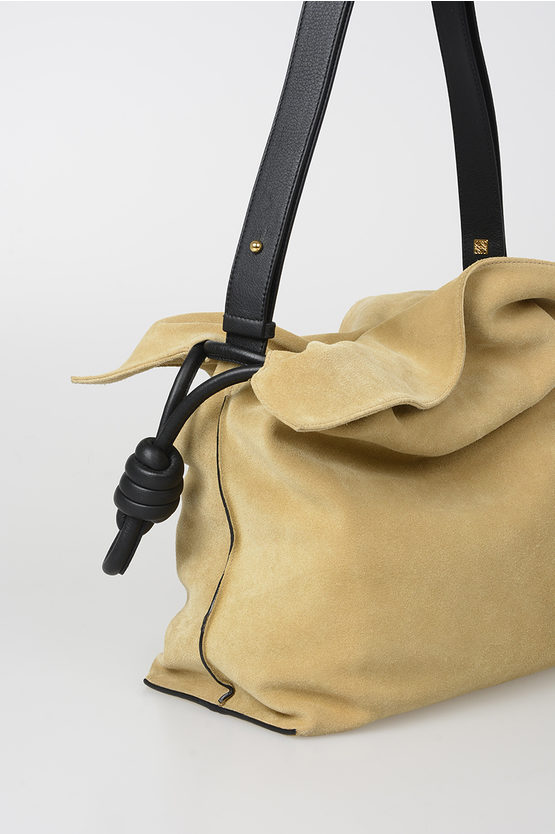 Suede FLAMENCO KNOT Shoulder Bag
