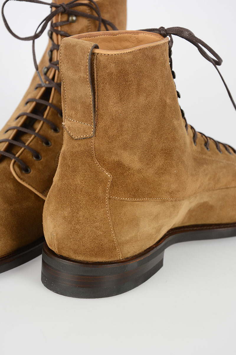 Barbanera Suede Kerouac Lace Up Booties Men Glamood Outlet