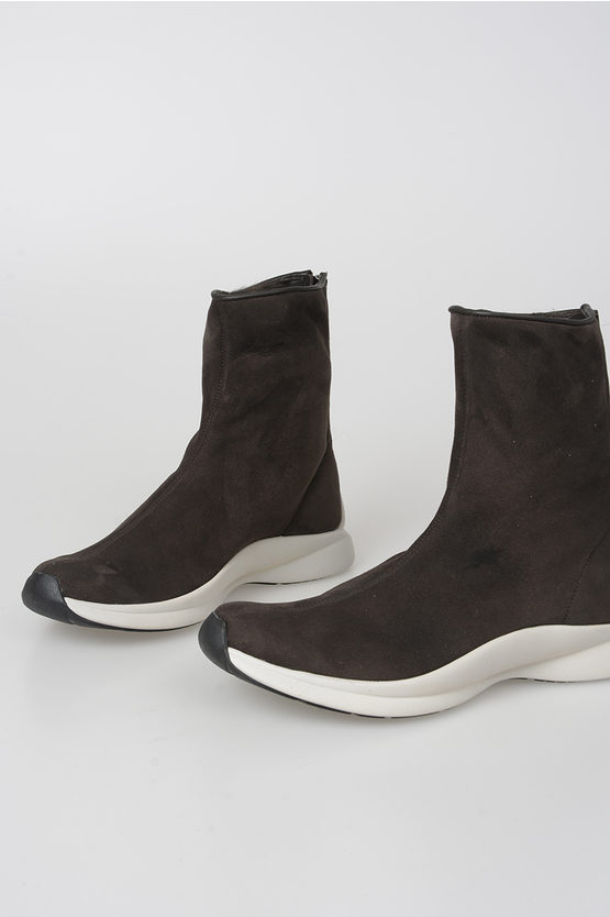 Suede Leather and Fur Ankle Boots
