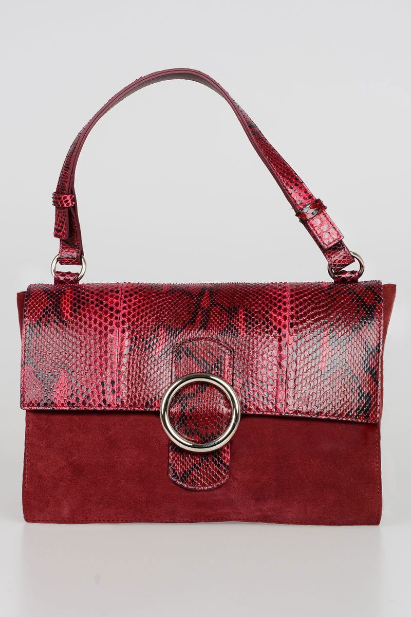 And Glamood Orciani Bag Hand Leather Suede Outlet Snake Women ETq146vWq0