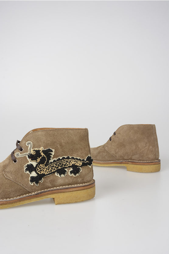 Suede Leather BEAR Ankle Boots