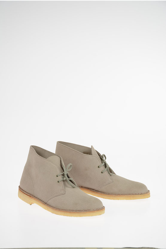 Suede Leather Laced Shoes