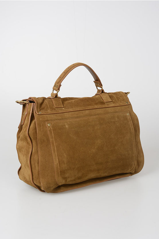Suede PS1 EXTRA LARGE Satchel Bag