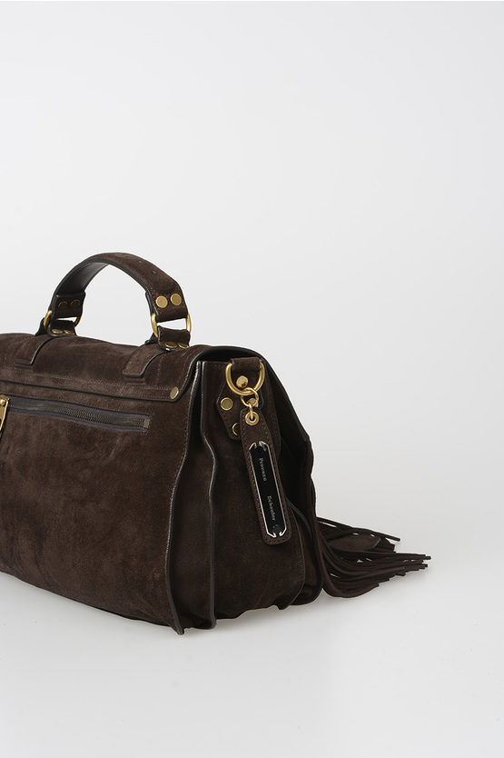 Suede PS1 MEDIUM Satchel Bag with Fringes