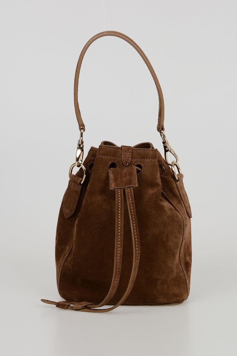 0ac37922b436 Polo Ralph Lauren Suede RICKY Bucket Bag women - Glamood Outlet