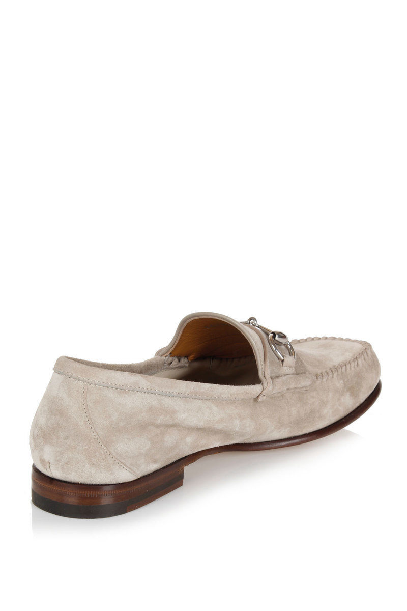 c8b8ac3532a Gucci Suede ROCKY Loafers men - Glamood Outlet