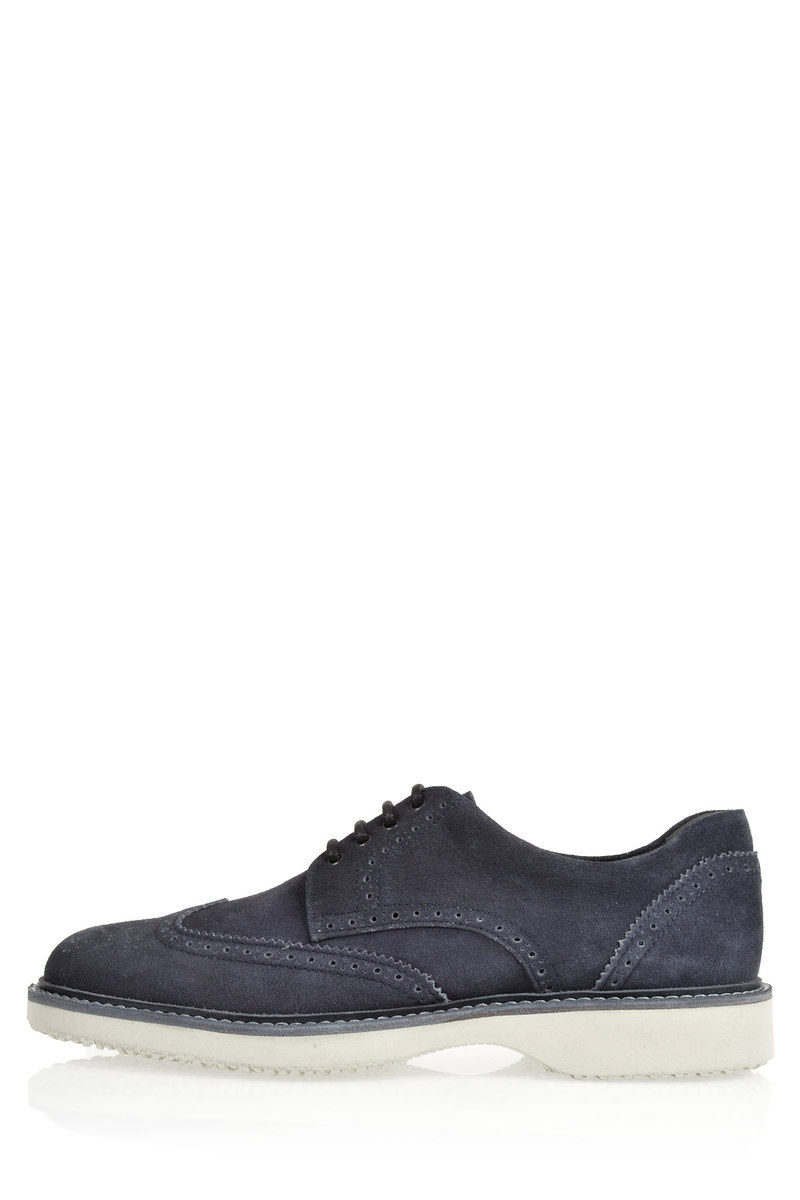 Suede ROUTE Brogue Derby Shoes