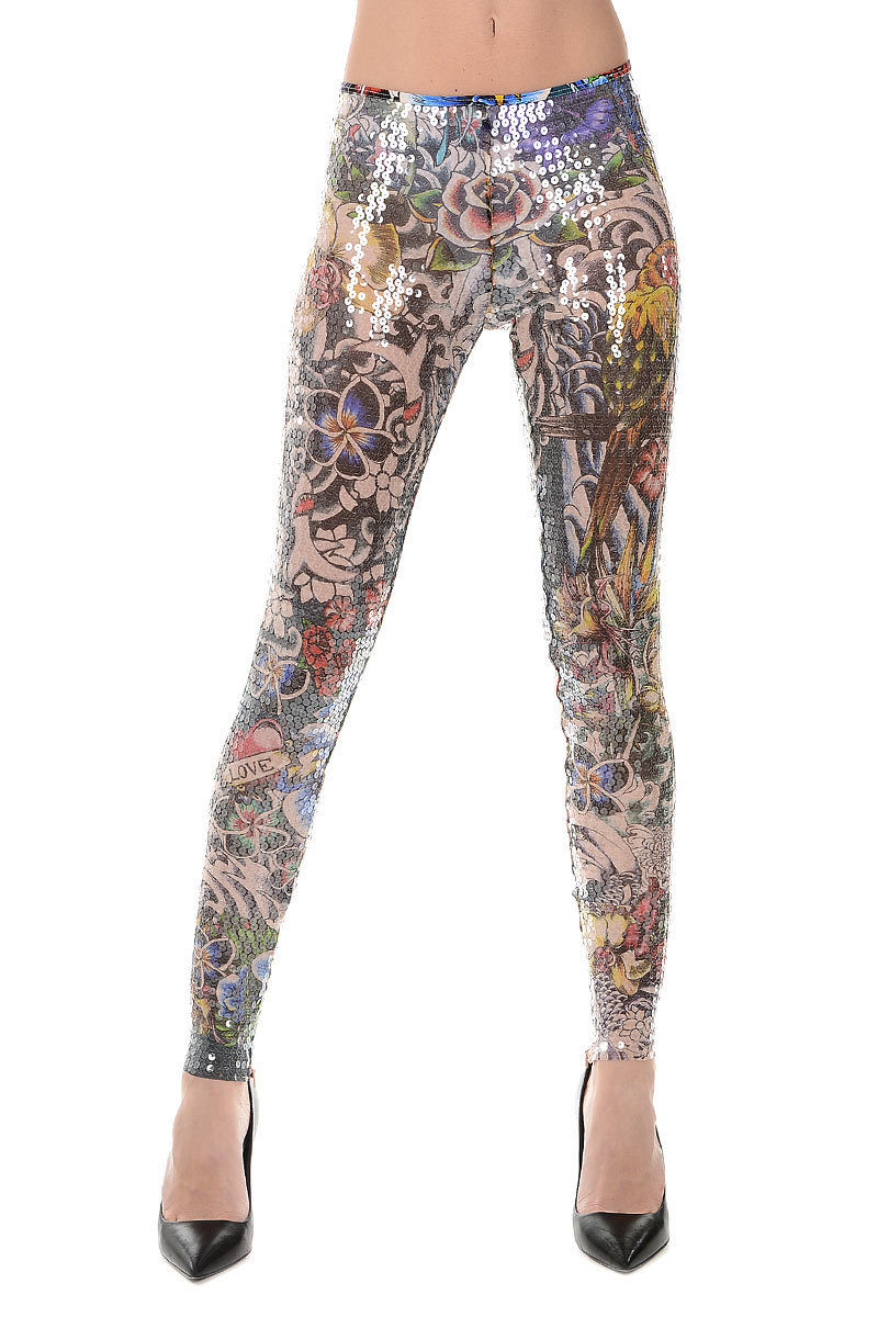 TATTOO Pants with Paillettes Spring/summer Dsquared2 sDX3TP