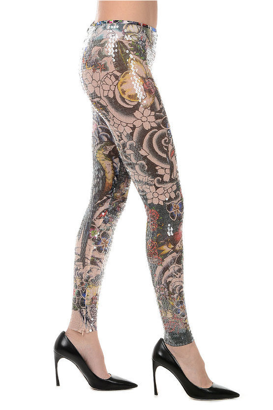 TATTOO Pants with Paillettes