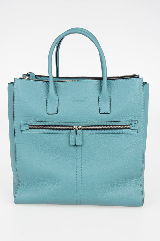 Textured Leather Tote Bag