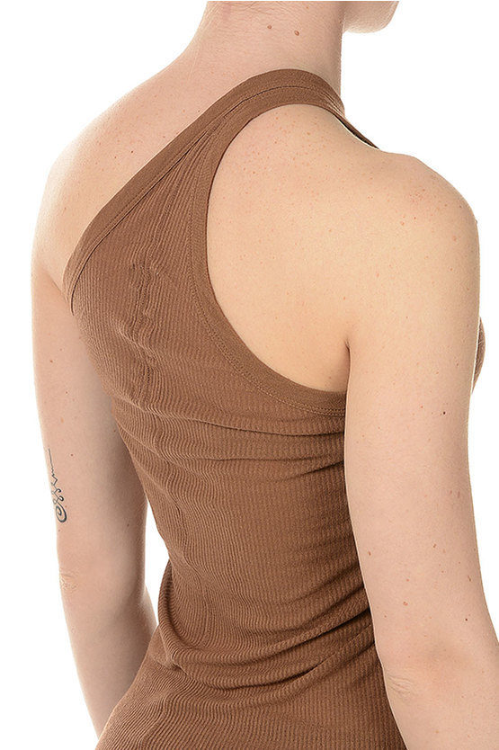 Top ONE SHOULDER TANK HENNA