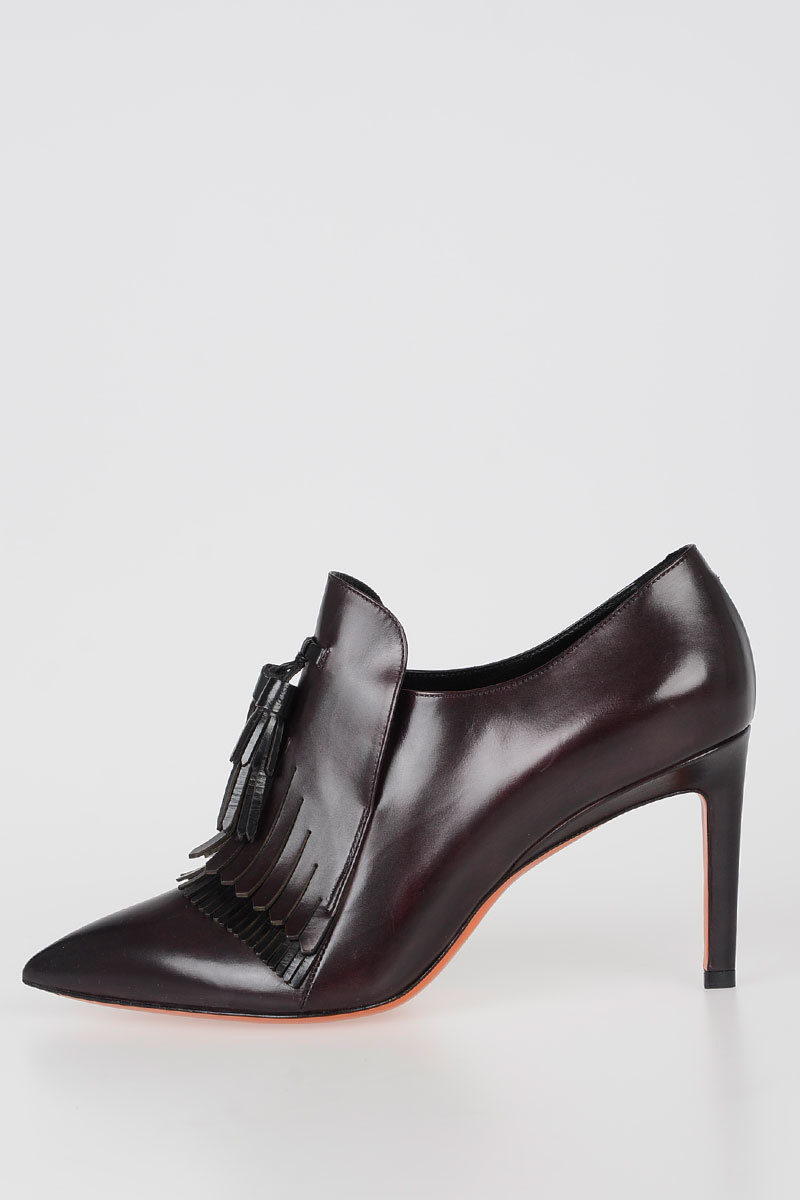 Santoni Tronchetto in Pelle 9cm donna - Glamood Outlet c66bdd8d6f8