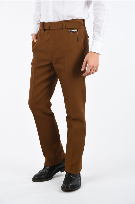 Twill Smart Pants with Belt