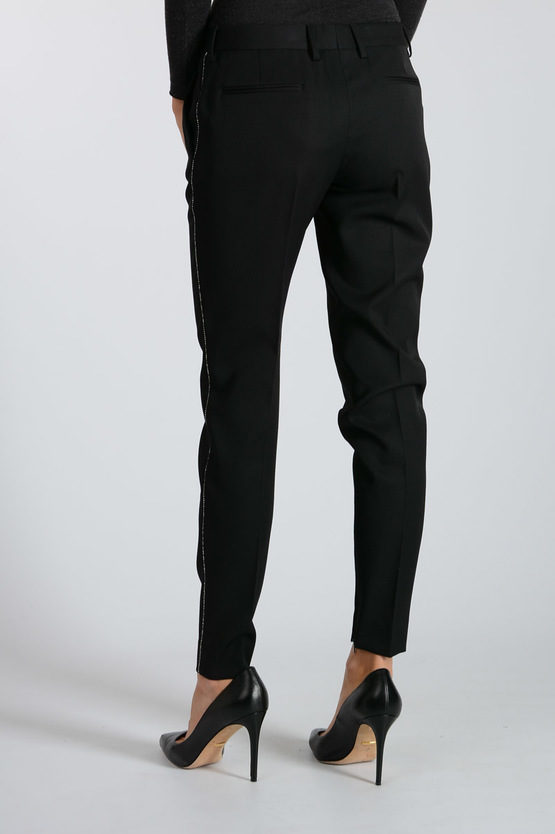 Virgin Wool Pants with Strass