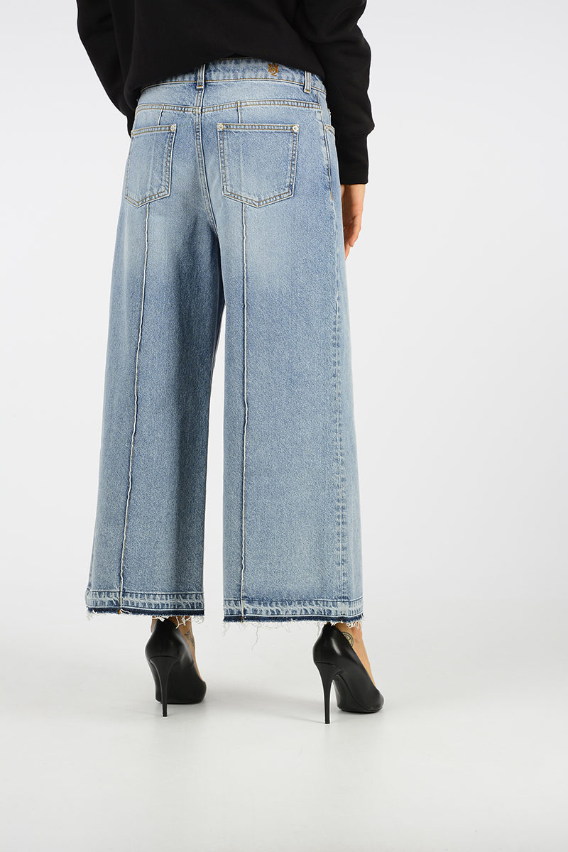 Alexander McQueen Wide Leg and Cropped Jeans women - Glamood Outlet 4a65664ec666e