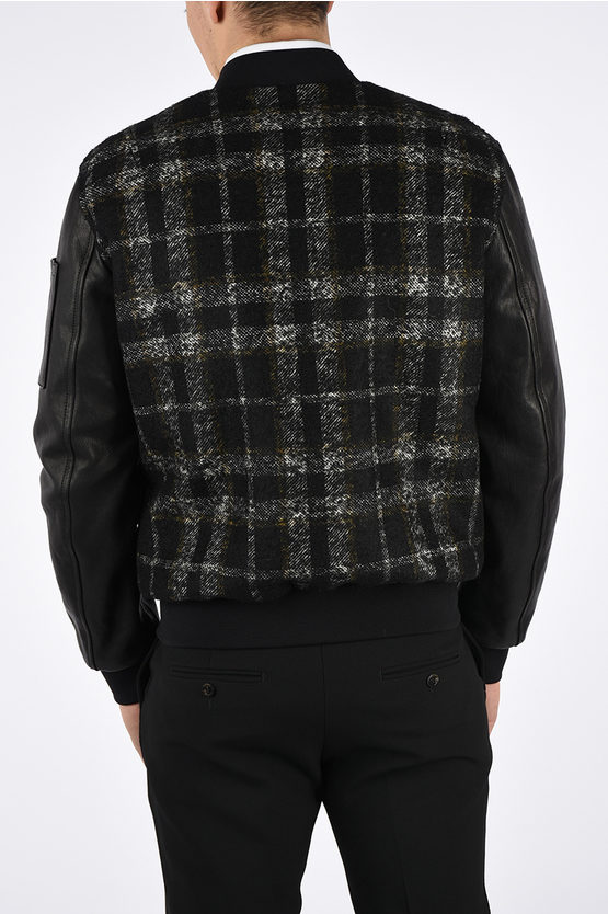 Wool and Leather Bomber
