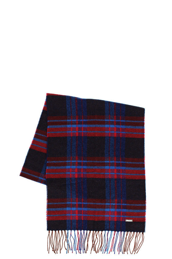 Wool Checked Scarf 160 x 35 cm