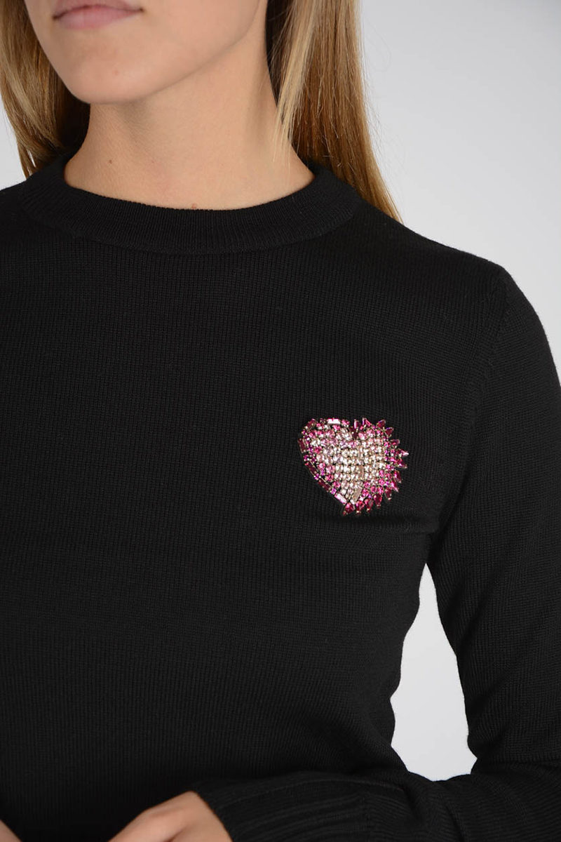 b4597d47a9 Saint Laurent Wool Jewel Embroidery Sweater women - Glamood Outlet