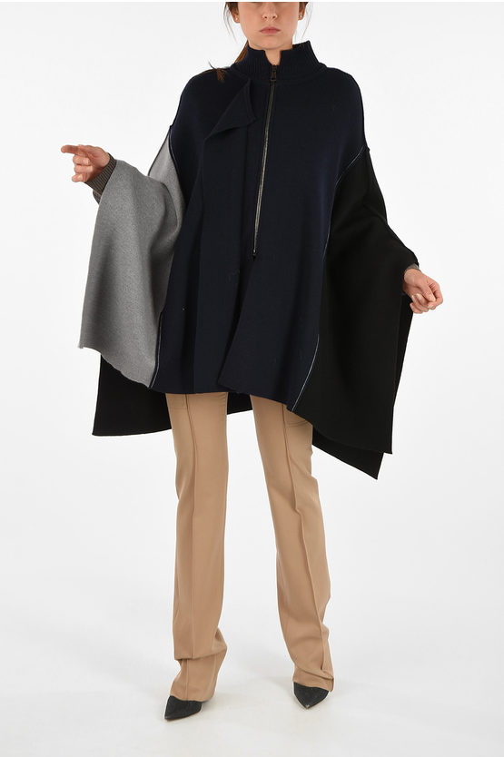 Wool Mantle with Zip