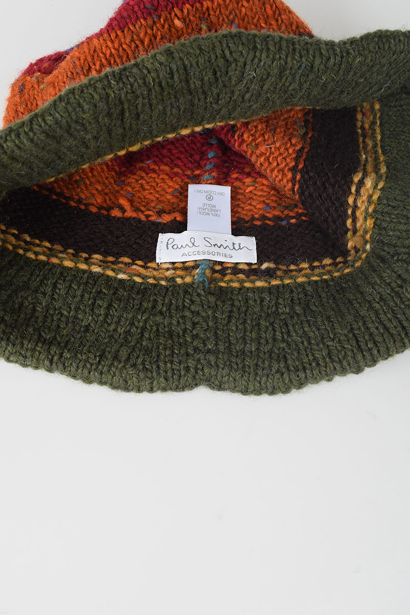 108211a7ef5f4 Paul Smith Wool Striped Hat - Glamood Outlet