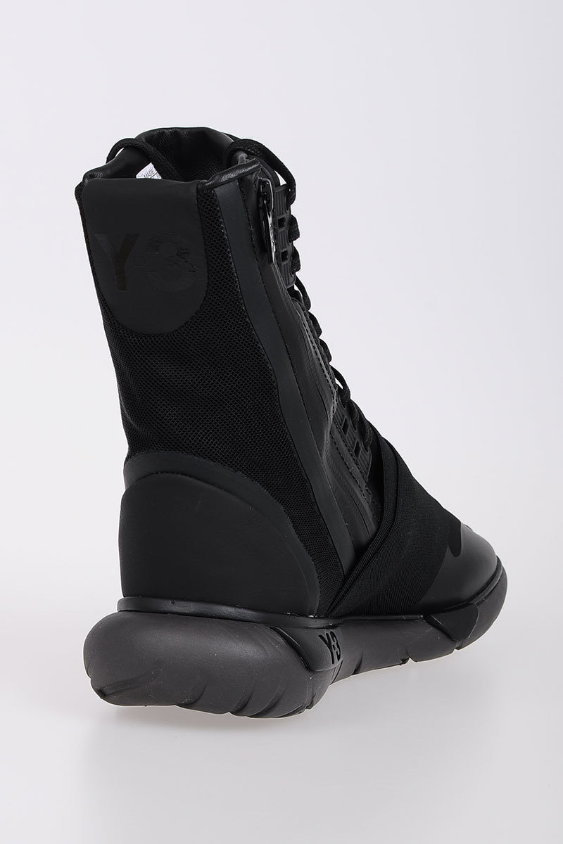 reputable site e7641 d3e35 Y-3 Fabric Leather QASA BOOT Sneakers