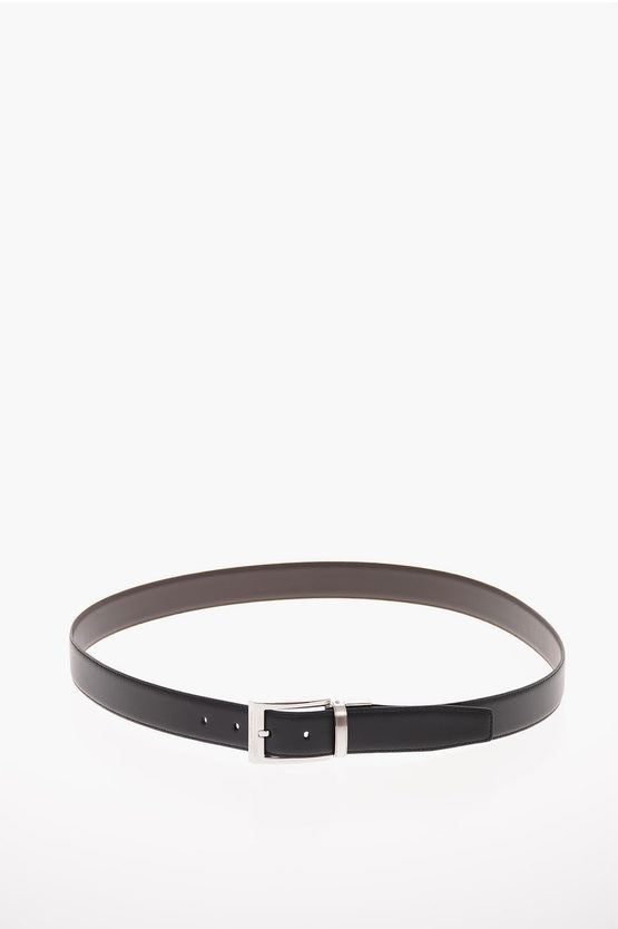 ZZEGNA Leather Reversible Belt 30mm