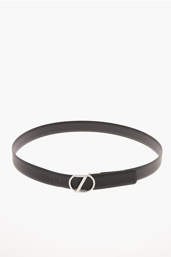 ZZEGNA  Leather Reversible Belt 35mm