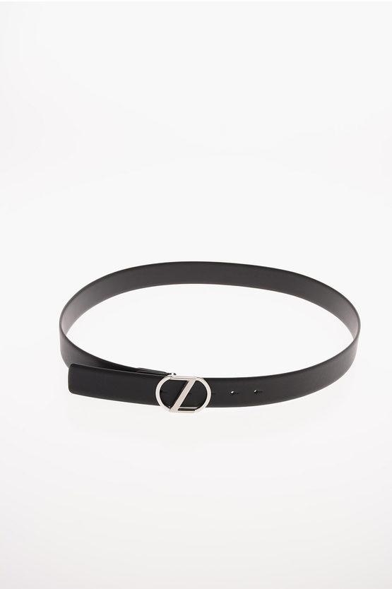 ZZEGNA Textured Leather Belt 35mm